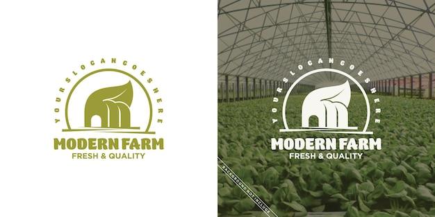 현대 농장 및 목장 로고 영감