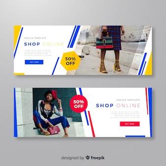 Modern fashion banners with photo