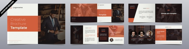 Modern fashion brochure pages design