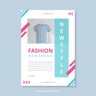 Modern fashion new brand business flyer template