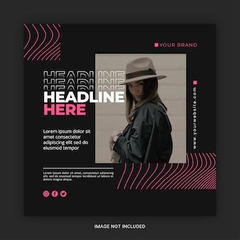 소셜 미디어 게시물 템플릿을 위한 현대적인 패션 판매 배너