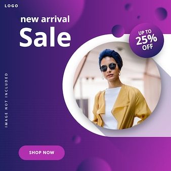 Modern fashion sale banner instagram post template