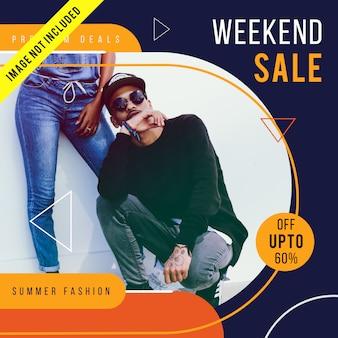 Modern fashion sale banner template or instagram post