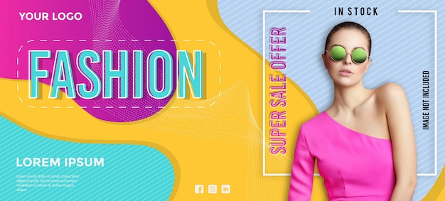 Modern fashion sale banner template