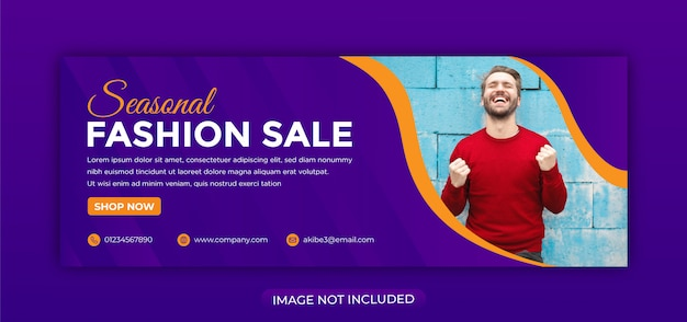 Modern fashion sale banner for web and social media facebook cover