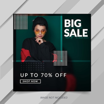 Modern fashion sale instagram post banner template