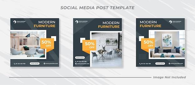 Modern fashion sale instagram post template