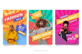 モダンファッションセールポスターコレクション