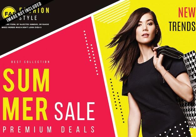 Modern fashion sale poster