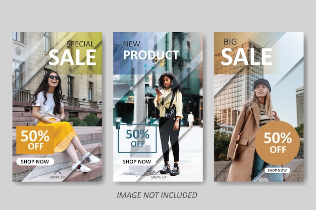 Instagram 이야기를위한 현대 패션 판매 템플릿