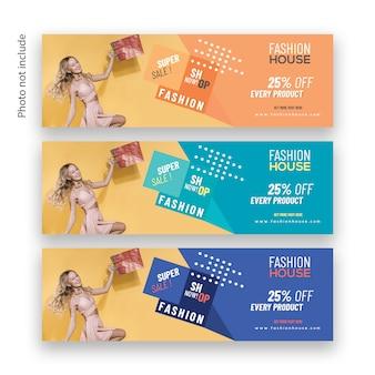 Modern fashion sale web banner