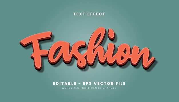 Modern fashion text effect
