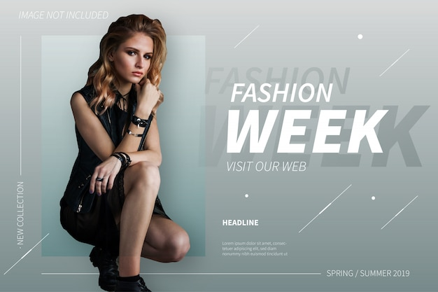 Modern fashion week banner