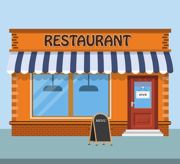 モダンなファーストフードレストラン