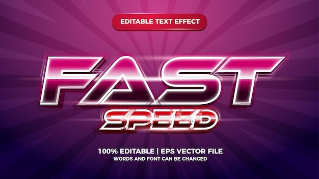 Modern fast speed editable text effect style template