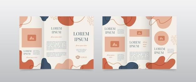 Modern feminine trifold brochure layout