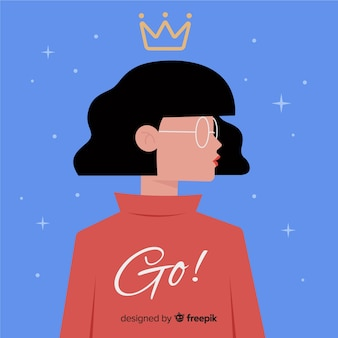 Modern feminism concept with flat design