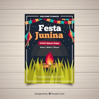 Modern festa junina cover template