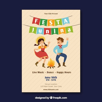 Modern festa junina cover template