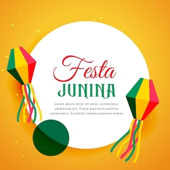 Modern festa junina design