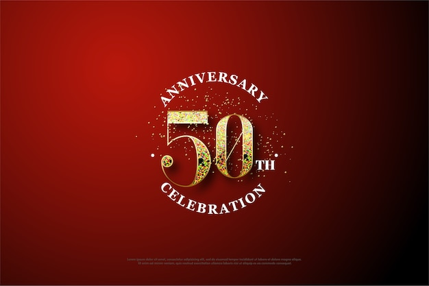 A modern and festive fiftieth anniversary background