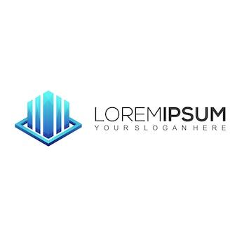 Modern finance logo design template