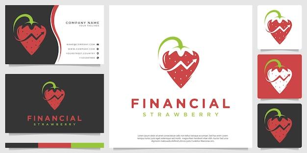 Современный финансовый клубничный логотип