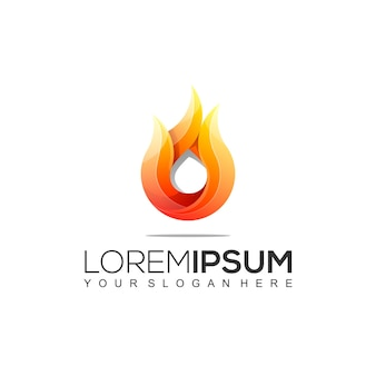 Modern fire logo design
