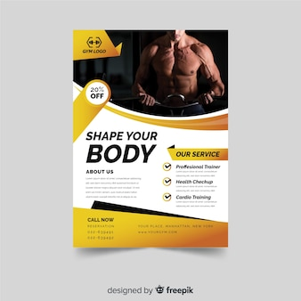 Modern fitness flyer template