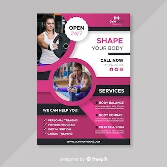 Modern fitness flyer template