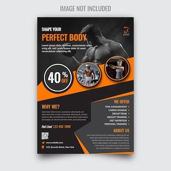 Modern fitness flyer