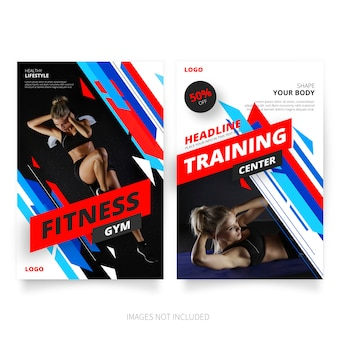 Modern fitness & gym brochure templates