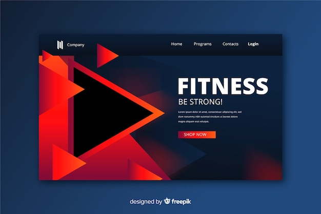 Modern fitness landing page