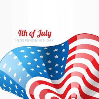 Modern flag design for independence day