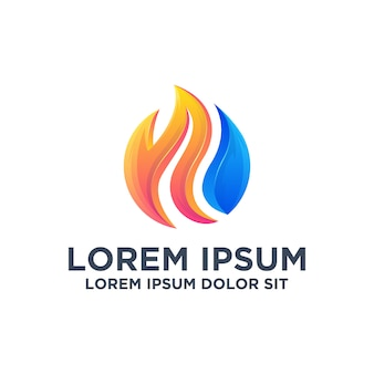 Modern flames logo design