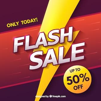 Modern flash sale background