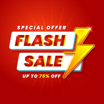 Modern flash sale banner promotion template