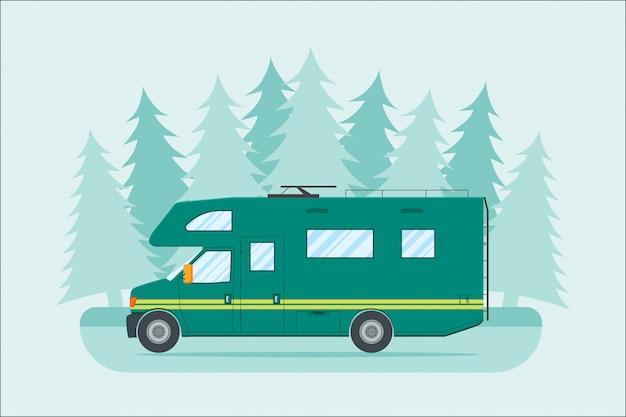 Modern flat camper van