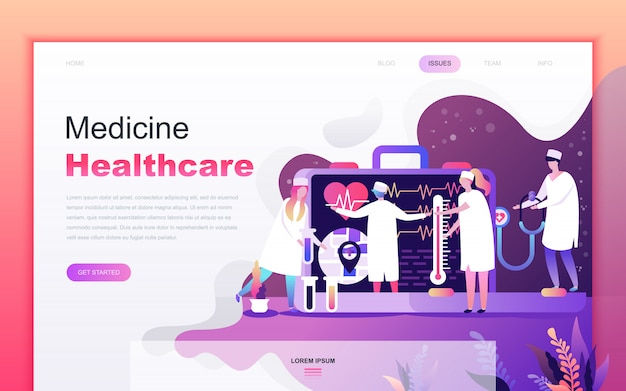 Modern flat cartoon of medicine and healthcare