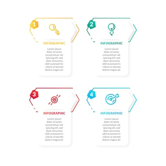 Modern flat colorful timeline infographic. perfect for presentation, process diagram, workflow, and banner