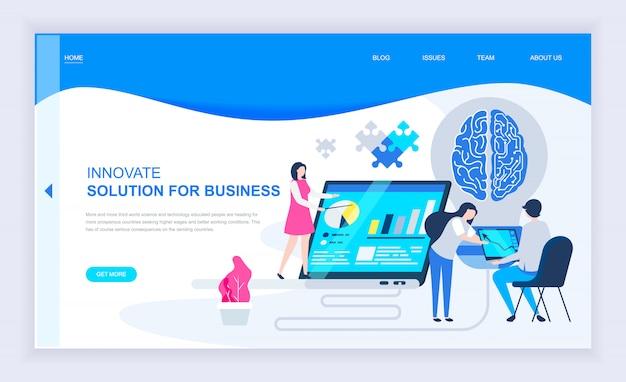 Modern flat design concept of business innovation