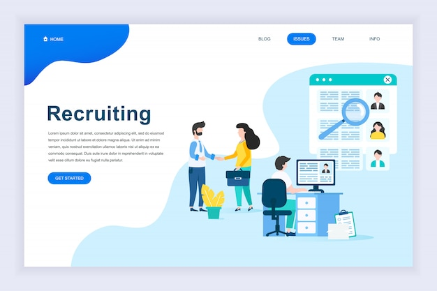Modern flat design concept of business recruiting