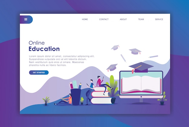 Modern flat design concept of education