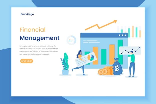 Modern flat design concept of financial management