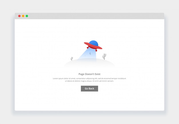 Modern flat design concept of flying ufo, page doesn't exist for website and mobile website. empty states page template