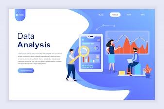 Modern flat design concept of Big Data Analysis for website