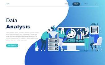 Modern flat design concept of Big Data Analysis