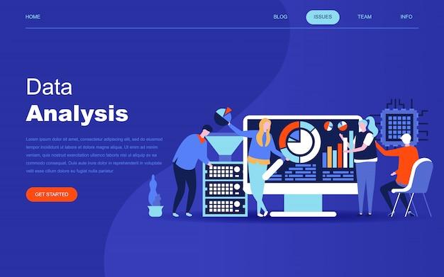 Современная плоская концепция дизайна big data analysis