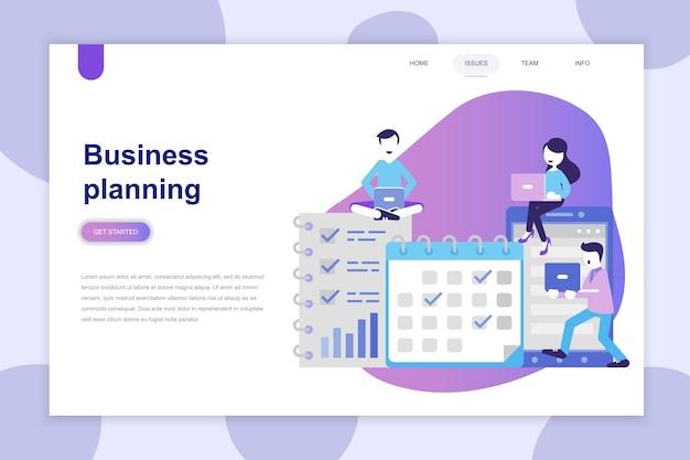 Современная плоская концепция бизнес-планирования для веб-сайта