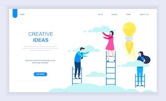 Modern flat design concept of Creative Idea